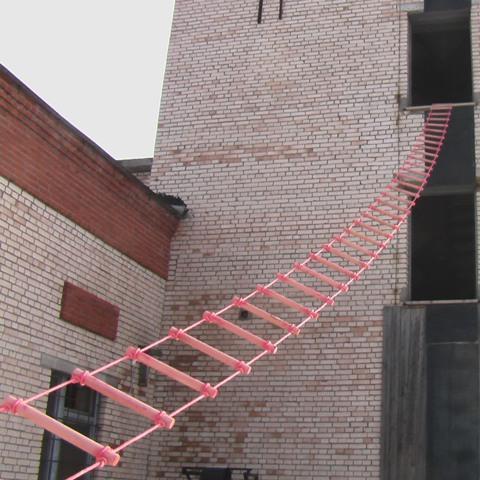 Лестницы навесные спасательные пожарные - веревочная, металл.