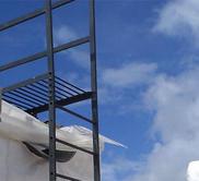 Лестница пожарная наружная стационарная вертикальная п1-1.